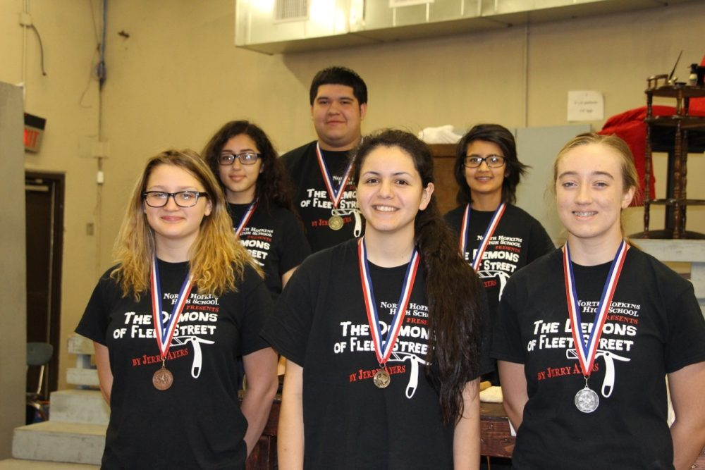 Front Row Left to Right: Mattie Hall, Veronica Ugalde, Breeanna Hicks Middle Row: Katerin Flores, Esperanza Deterring Back Row: Nathan Olavide