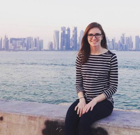 Texas A&M University-Commerce political science and Honors College student Kaylin Taylor in Qatar.