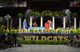 SSHS Seniors Practice for Friday's Graduation Ceremony