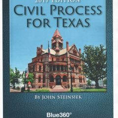 "New ""Civil Process For Texas"" Penned by Hopkins County Native John Steinsiek"