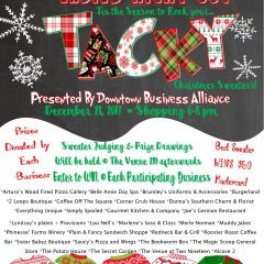 Win the Tacky Christmas Sweater Contest at Ladies Night Out Dec. 21, Sponsored by DBA Fun, Food and Fashion Retailers