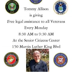 Free Legal Assistance Offered To All Veterans