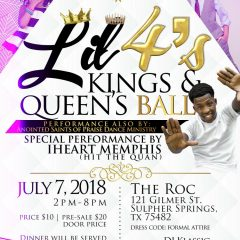 Mark Your Calendars for the Annual King and Queen Ball