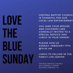Central Baptist Church Plans Event to Honor Law Enforcement