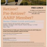 Senior Citizens Lunch, Learn Seminar Offered May 6