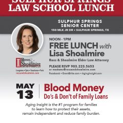 Ross And Shoalmire Law Program on Family Loans
