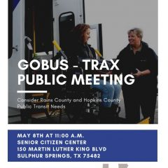 TRAX Public Meeting – May 8th, 2019