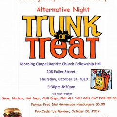 Trunk or Treat with Fred Dial Hamburgers or More