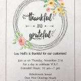 'Thankful and Grateful' Shopping Event at Lou Nell Fashions on Thurs Nov. 21