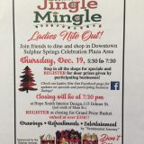 DBA's 'Jingle Mingle' Ladies Night on Thursday Dec. 19 is     a Holiday Shopping Event!