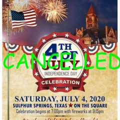 Hopkins County 4th Of July Celebration Cancelled