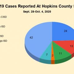 DSHS School COVID-19 Case Counts: 16 New Cases At Hopkins County Schools