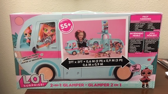 L.O.L. Surprise 2 in 1 Glamper. This is one of the hot items for a special girl this Christmas. The Glamper is fully equipment and will give some lucky girl hours of fun!
